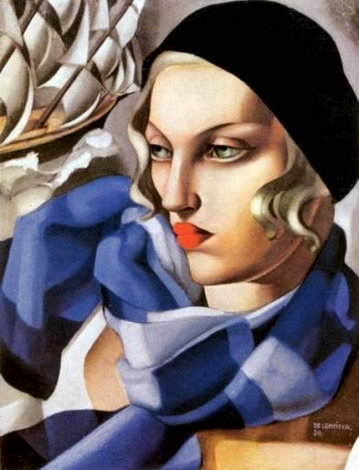 "Lempicka's ""The Blue Scarf,"" dahhhhling."