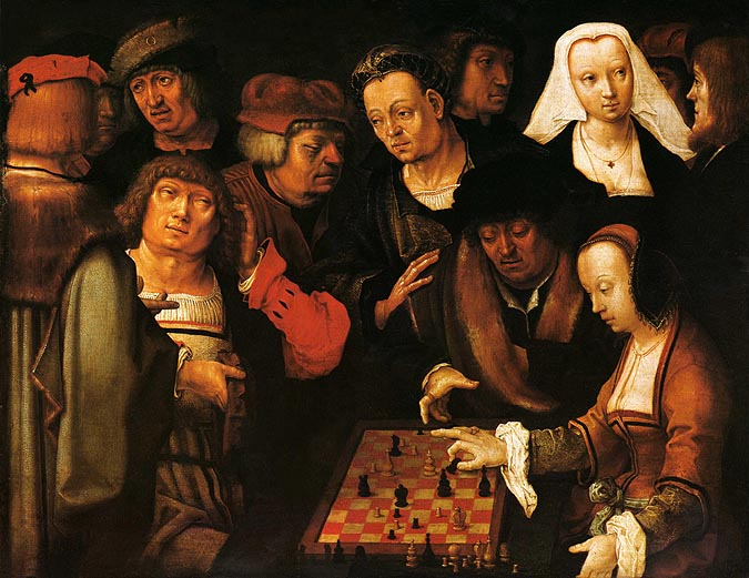 """The Chess Players"" Lucas van Leyden, 1508"