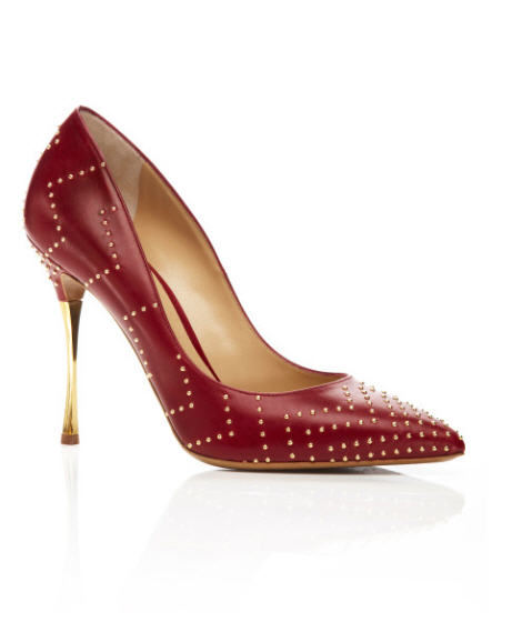 Nicholas Kirkwood gold-studded chrome heel pump, pre-fall 2013.