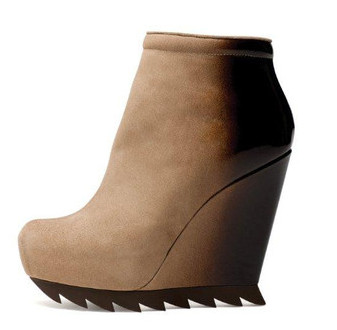 Bi-Sepia Ankle Wedge Boot w/Saw Sole by Camilla Skovgaard, now onsale. Visit camillaskovgaard.com, baby.