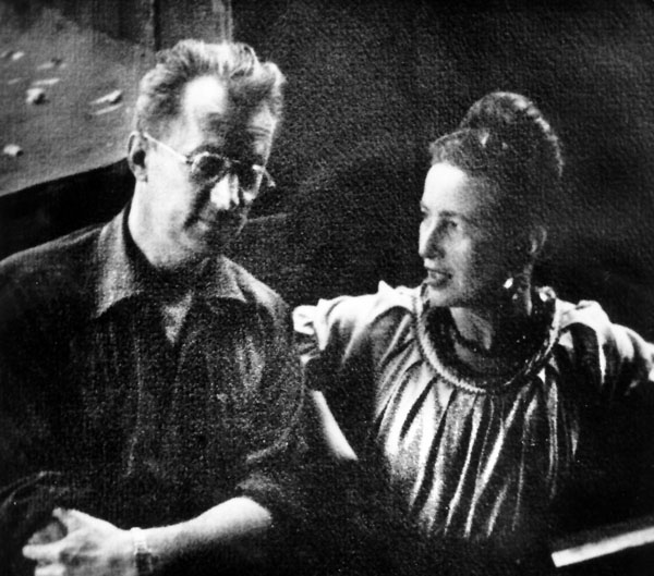 Writer Nelson Algren and Simone de Beauvoir, Chicago. Sun Times Photo, 1950-ish.
