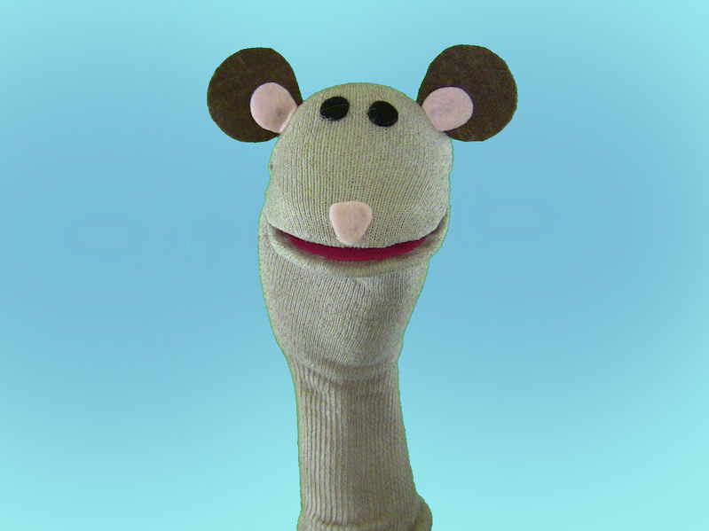 Squeak, a sock puppet that I do not have to get permission to feature, as it came from WikiCommons.
