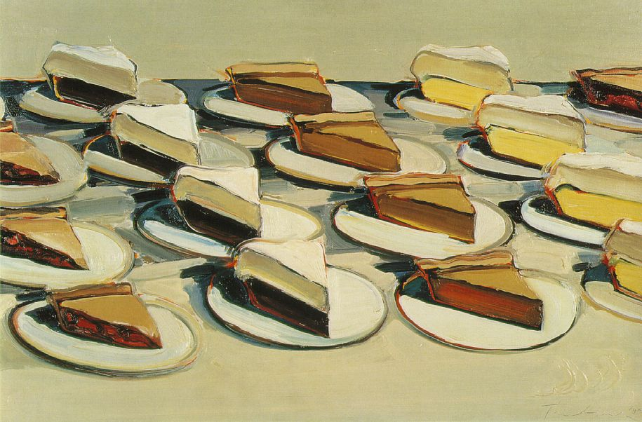 Wayne Thiebaud. Pies, Pies, Pies. 1961. Oil on canvas, 20 x 30 in.