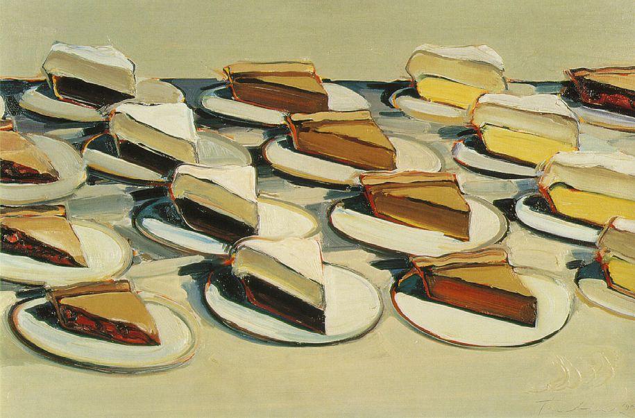 Wayne Thiebaud. Pies, Pies, Pies. 1961. Oil on canvas, 20 x 30 in.
