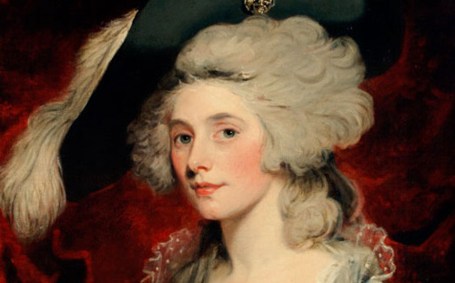 Mary Robinson, b. 1757, Bristol England. Famous for poetry, novels, acting -- and for being the first public mistress of George IV.