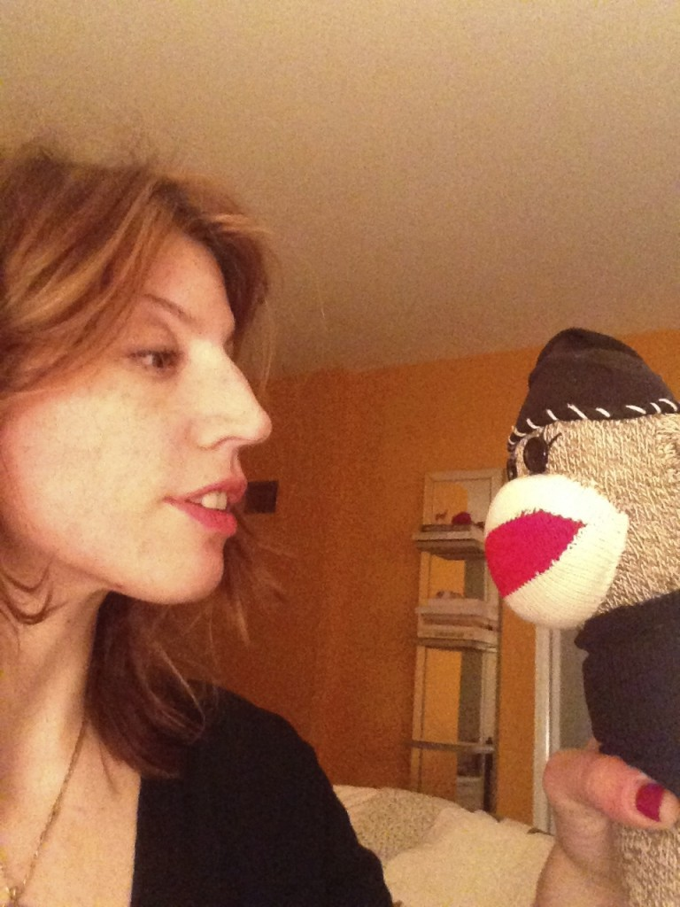 The author and the monkey.