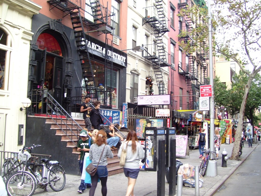 My new street, St. Mark's Place. East Village, NYC.