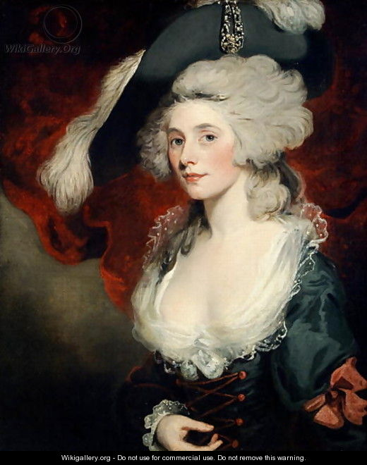 "John Hoppner, ""Mary Robinson 1758-1810 as Perdita."" Oil on canvas, WikiGallery imprint on screen. Pale skin recognized by author."