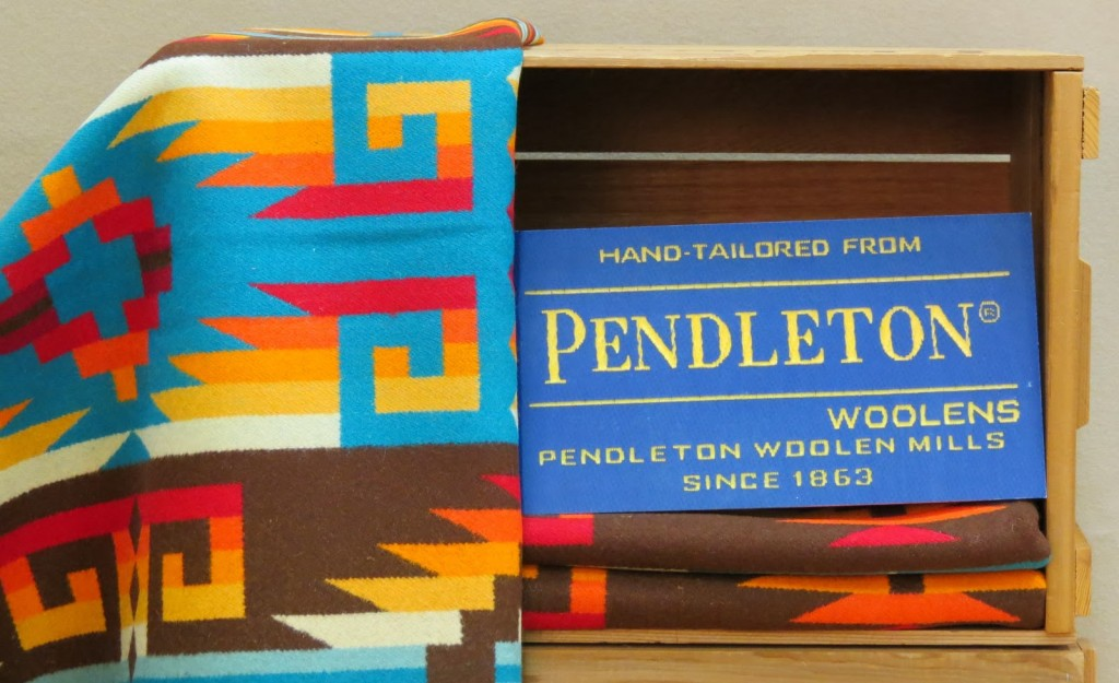 That's Pendleton wool, by the way. I'm never leaving this place!