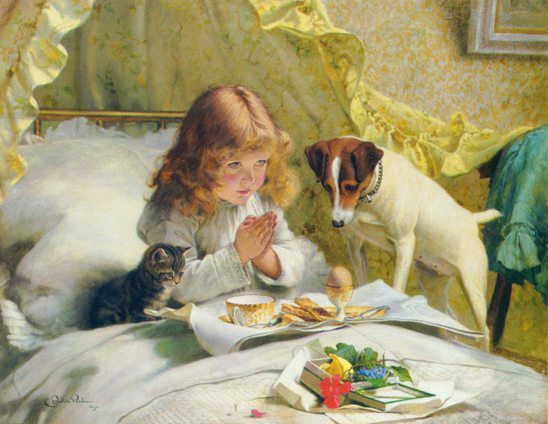 Suspense, by Charles Burton Barber, 1894.