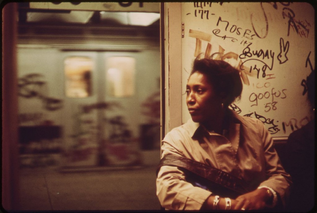 Woman on subway, NYC 1973. Photo: Erik Calonius, US National Archives.